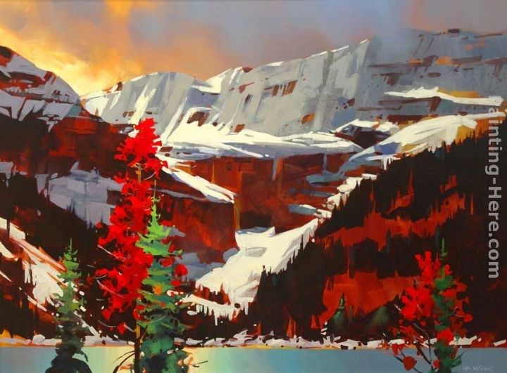 Michael O'Toole Lake Louise Sunset