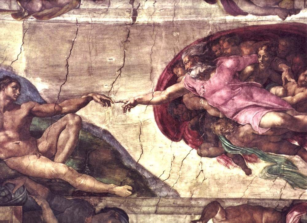 Michelangelo Buonarroti Creation of Adam detail