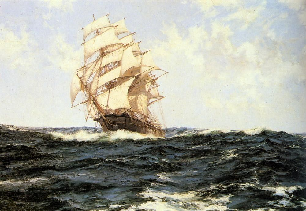 Montague Dawson Pacific Rollers