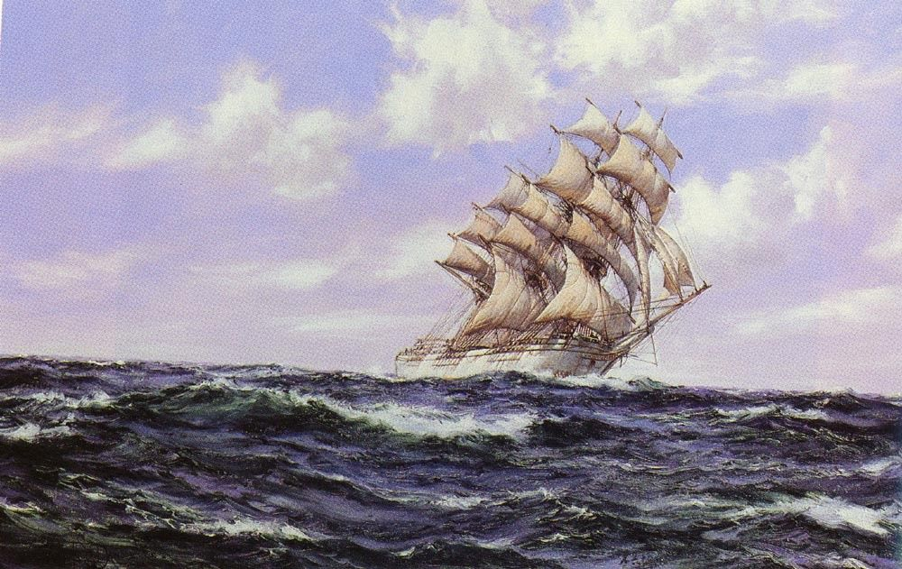 Montague Dawson The Abner Coburn. Fair Weather