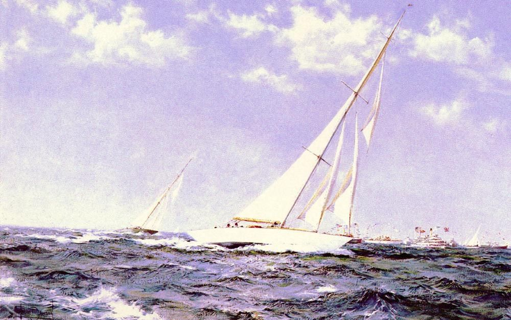 Montague Dawson The Americas Cup Race