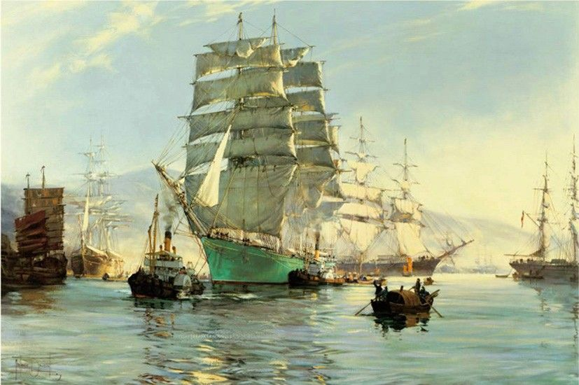 Montague Dawson Thermpyde Leaving Foochow