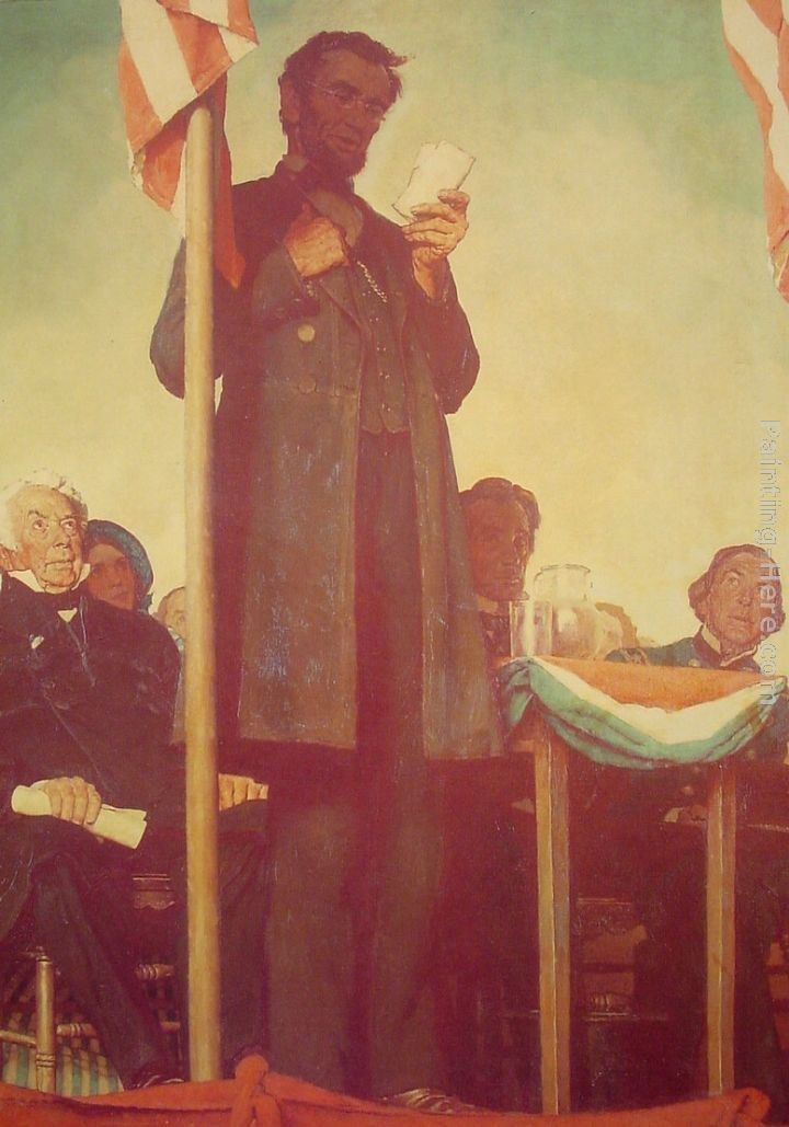 Norman Rockwell Abraham Delivering the Gettysburg Address