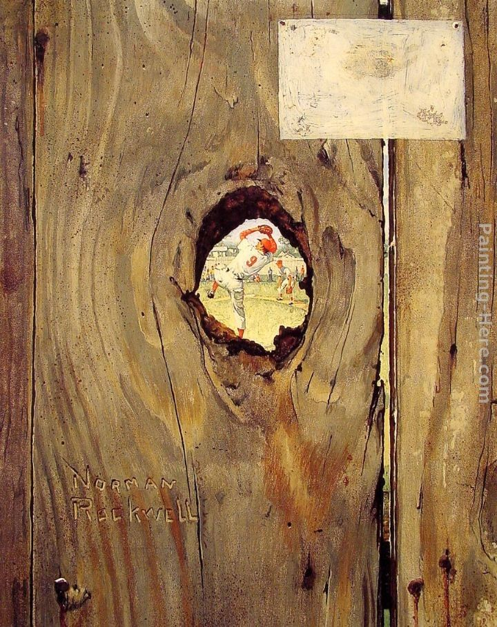 Norman Rockwell The Peephole