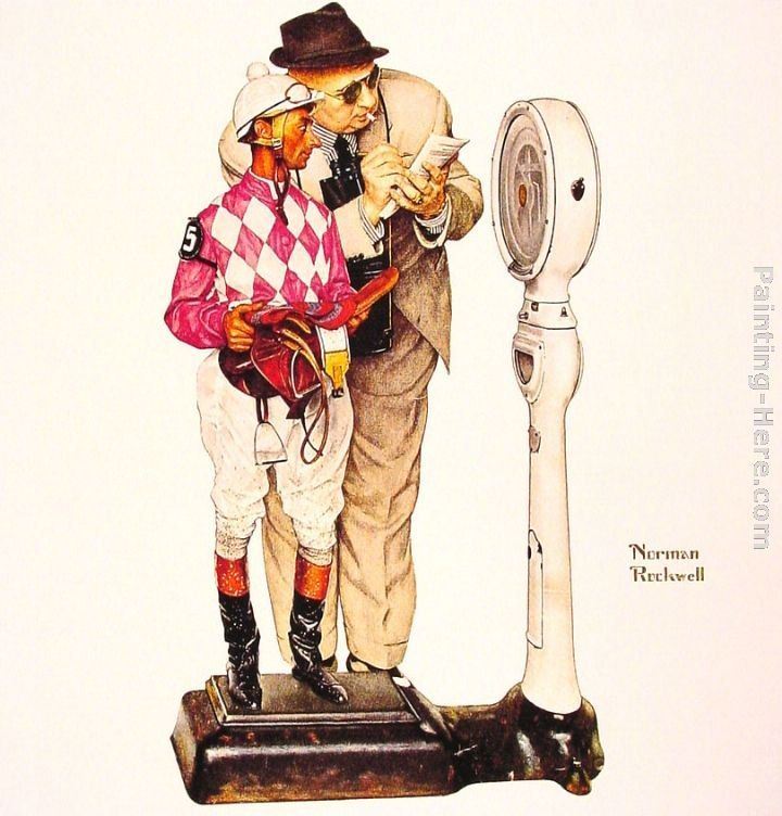 Norman Rockwell Weighing in