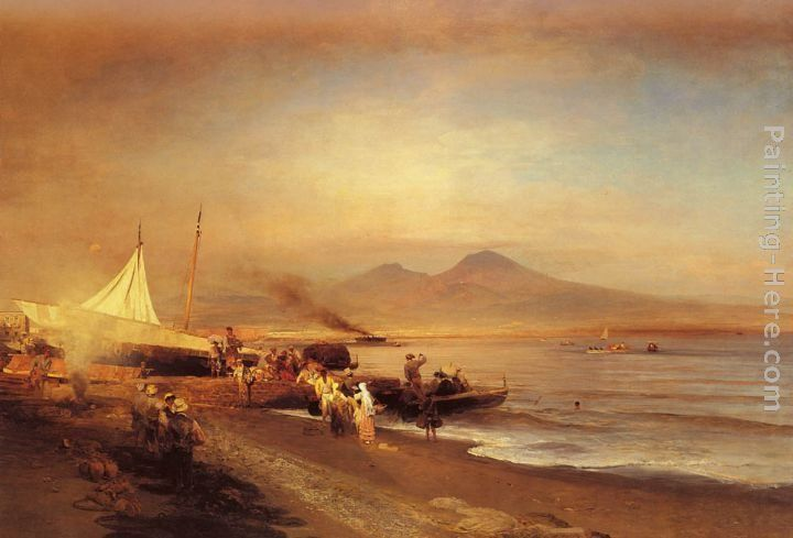 Oswald Achenbach The Bay of Naples