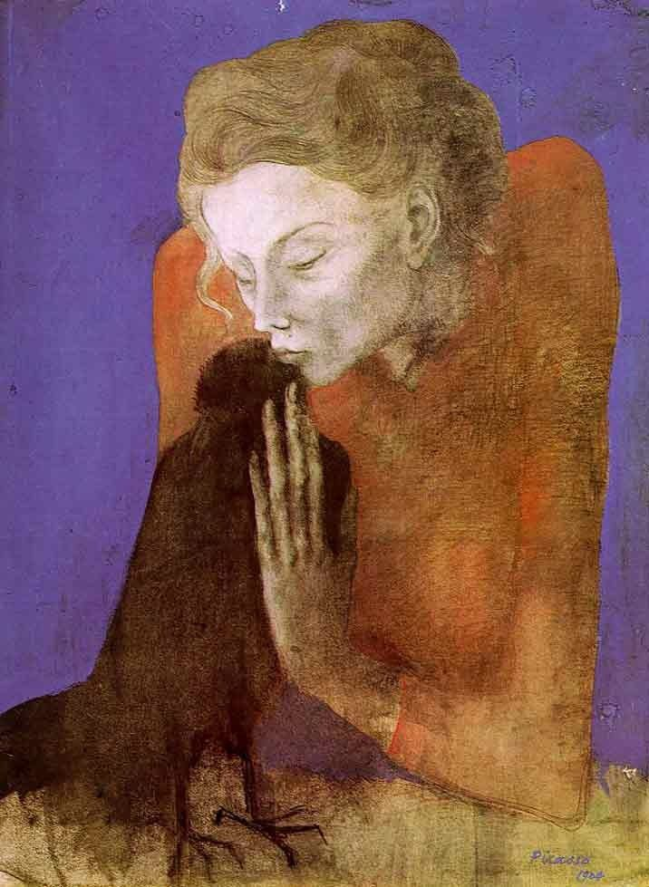 Pablo Picasso Woman with a Crow