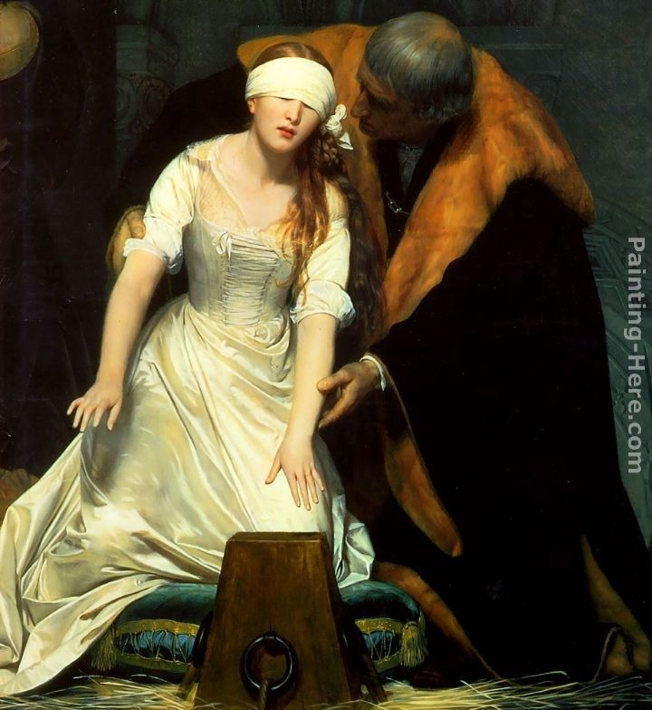 Paul Delaroche The Execution of Lady Jane Grey - detail