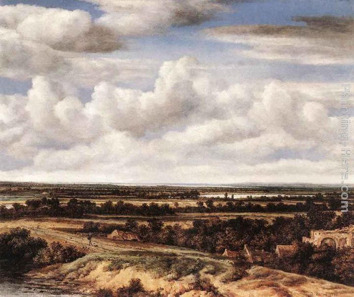 Philips Koninck An Extensive Landscape with a Road by a Ruin
