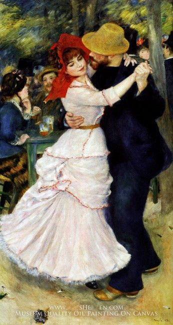 Pierre Auguste Renoir Dance at Bougival I
