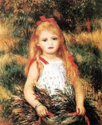Pierre Auguste Renoir Girl With Sheaf Of Corn