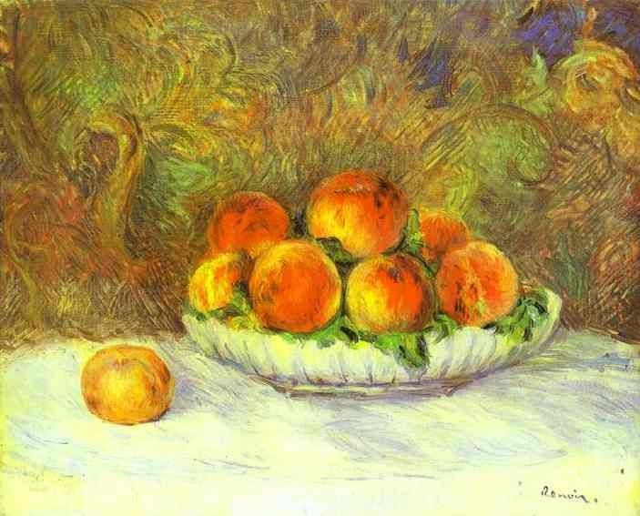 Pierre Auguste Renoir Still Life with Peaches