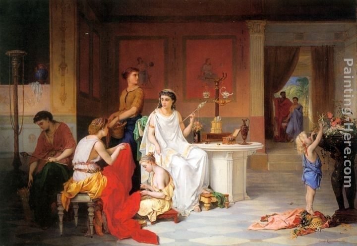 Pierre Oliver Joseph Coomans The Last Hour of Pompei