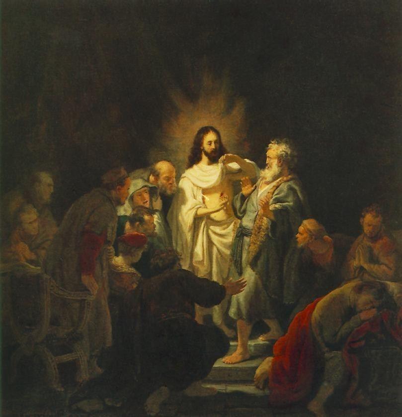 Rembrandt The Incredulity of St. Thomas