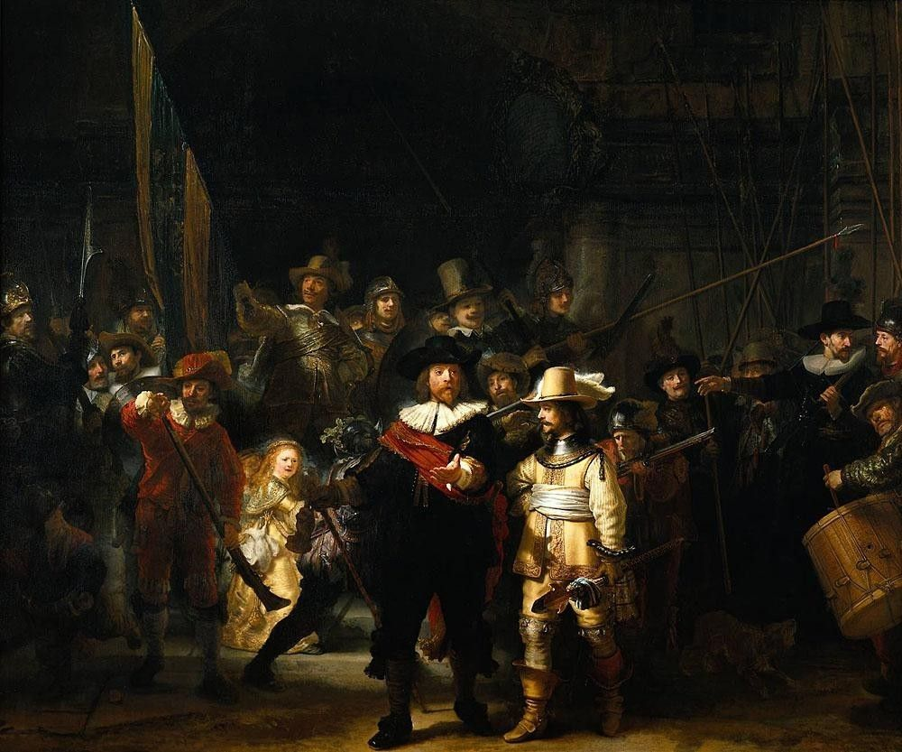Rembrandt rembrandt nightwatch painting