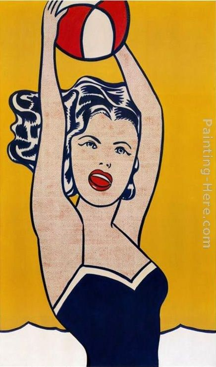 Roy Lichtenstein Girl with Ball