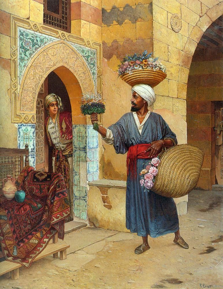 Rudolf Ernst The Flower Seller