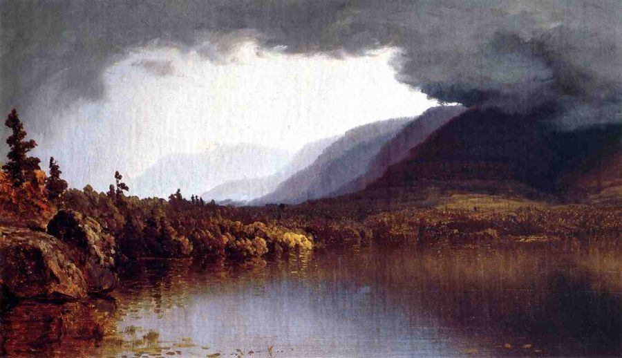 Sanford Robinson Gifford A Coming Storm on Lake George