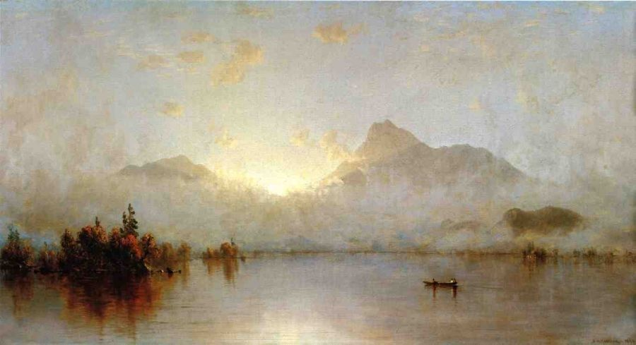 Sanford Robinson Gifford A Sunrise on Lake George