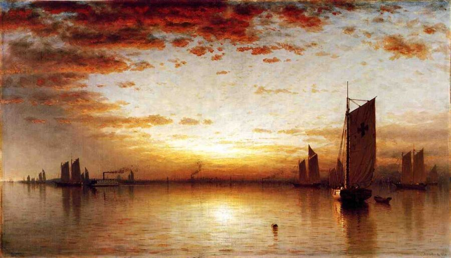 Sanford Robinson Gifford A Sunset, Bay of New York
