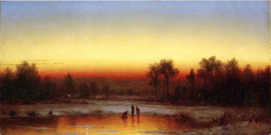 Sanford Robinson Gifford A Winter Twilight