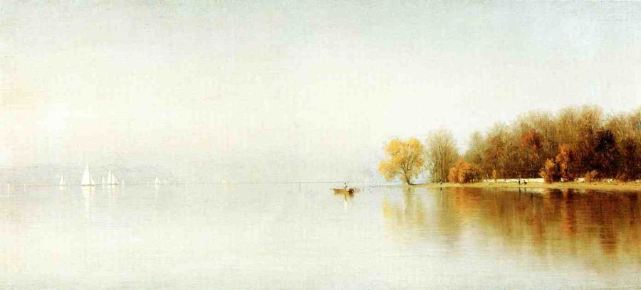 Sanford Robinson Gifford An Indian Summer's Day on the Hudson - Tappan Zee