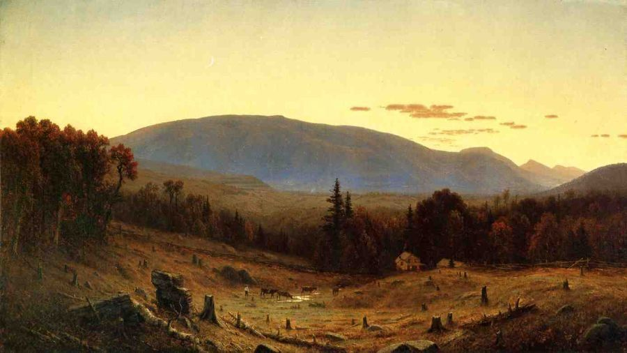 Sanford Robinson Gifford Hunter Mountain, Twilight