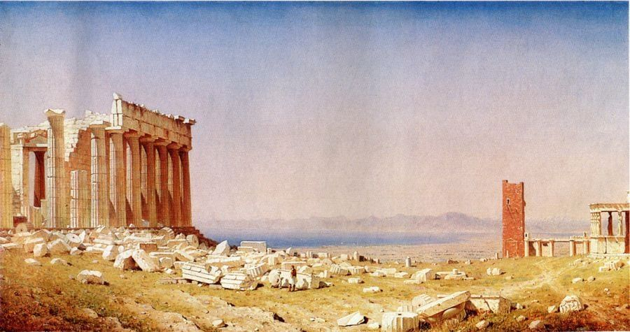 Sanford Robinson Gifford Ruins of the Parthenon