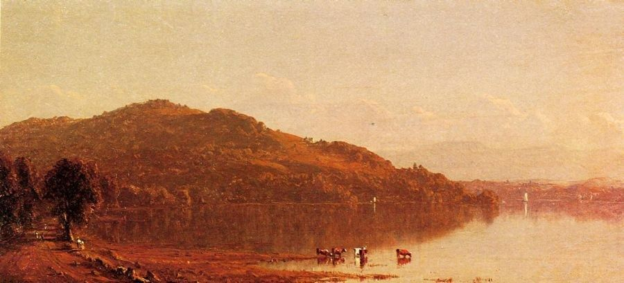 Sanford Robinson Gifford The Catskills from Hudson, N.Y.