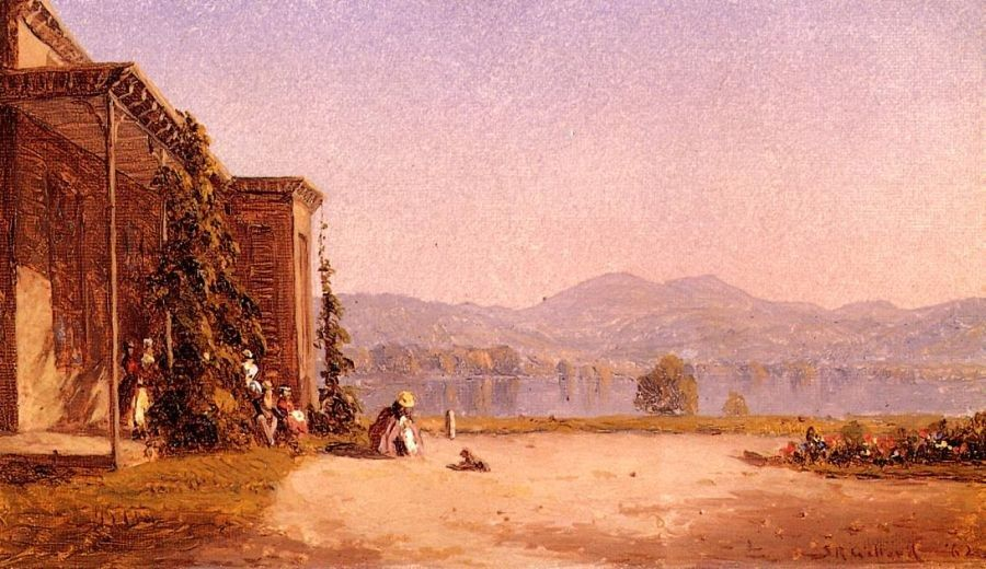 Sanford Robinson Gifford Veranda with Figures