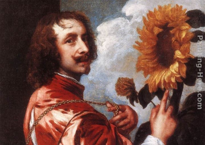Sir Antony van Dyck Self-portrait with a Sunflower