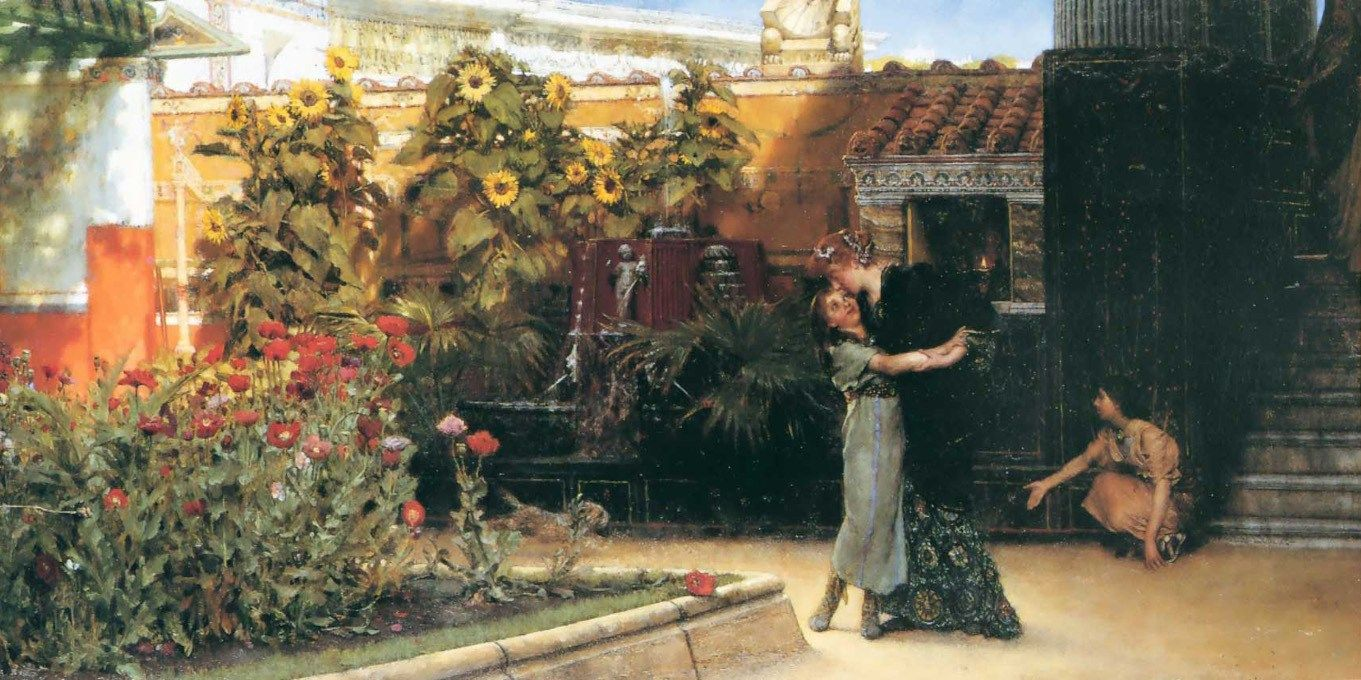 Sir Lawrence Alma-Tadema A Hearty Welcome