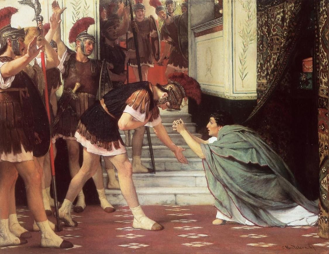 Sir Lawrence Alma-Tadema Proclaiming Claudius Emperor