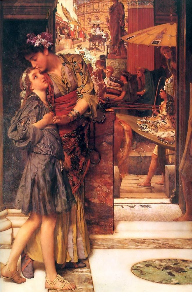 Sir Lawrence Alma-Tadema The Parting Kiss