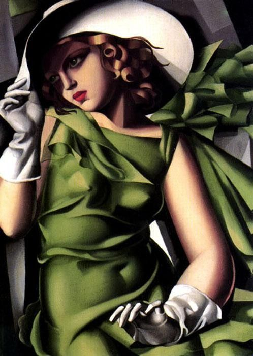 Tamara de Lempicka Girl in a Green Dress
