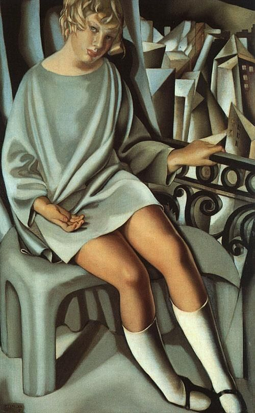 Tamara de Lempicka Kizette on the Balcony