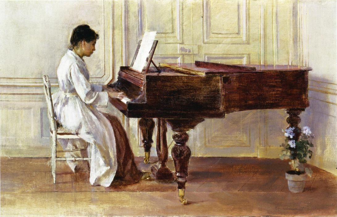 Theodore Robinson At the Piano