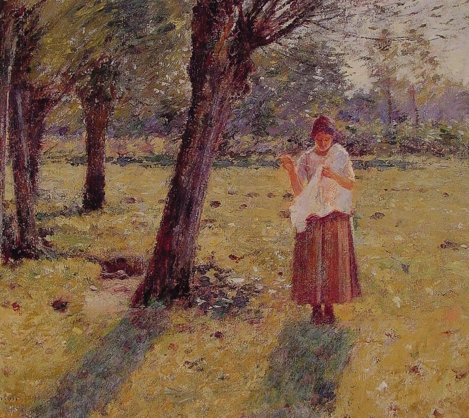 Theodore Robinson Girl Sewing