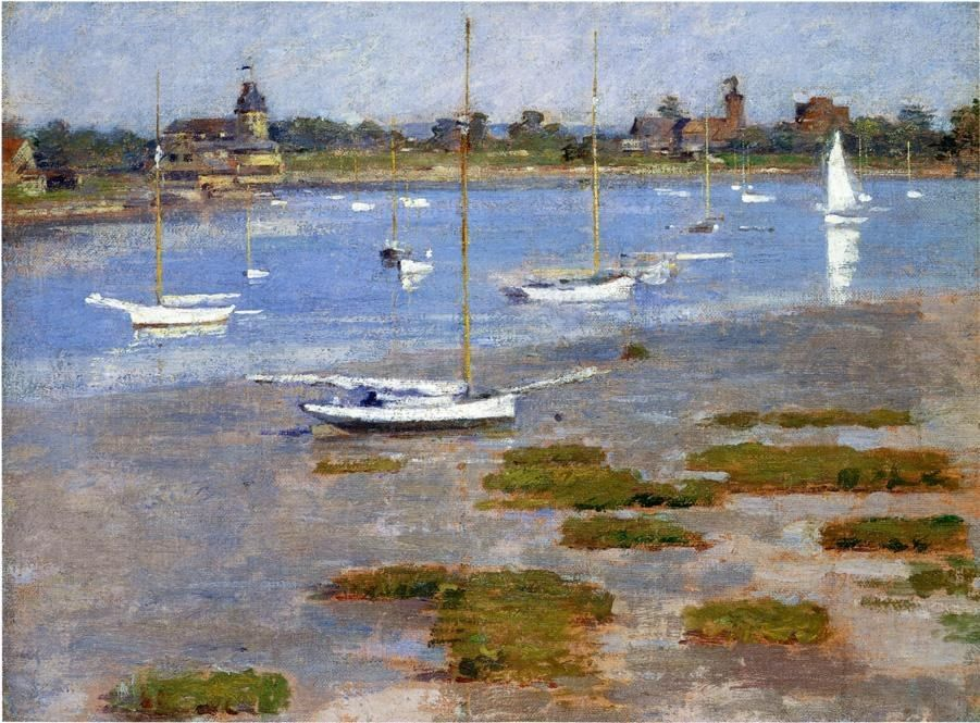 Theodore Robinson Low Tide The Riverside Yacht Club