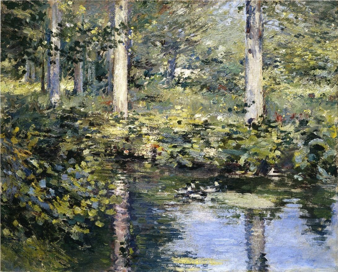 Theodore Robinson The Duck Pond