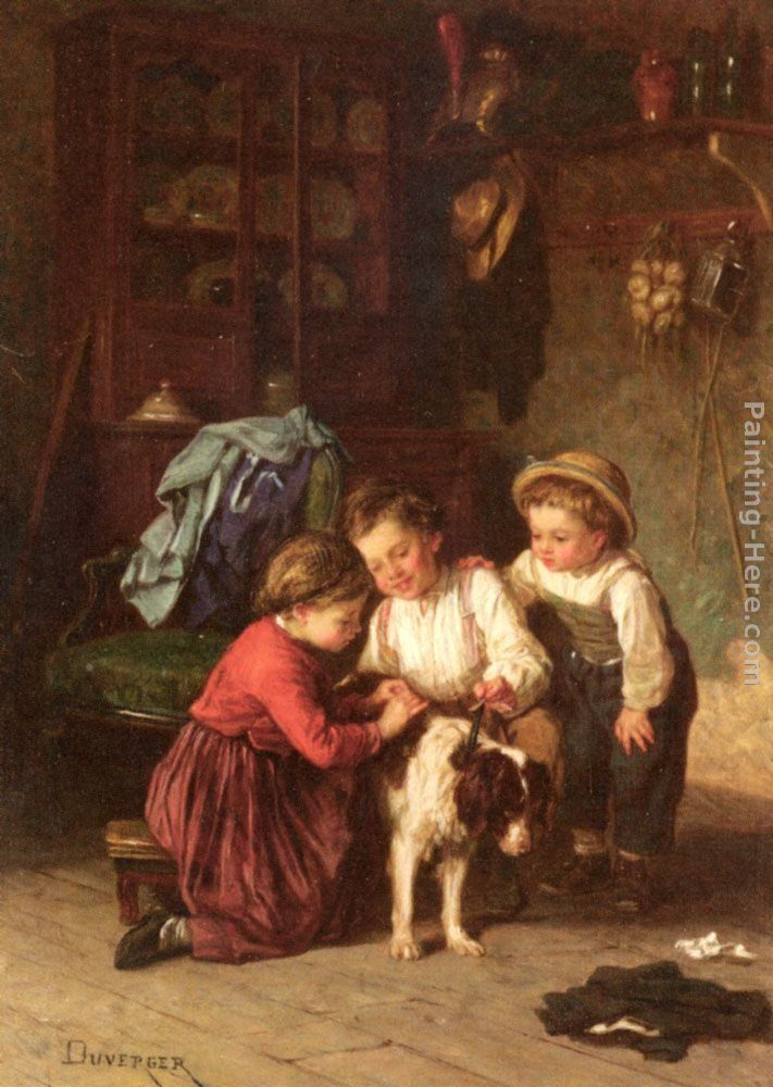 Theophile-Emmanuel Duverger The Patient Pet