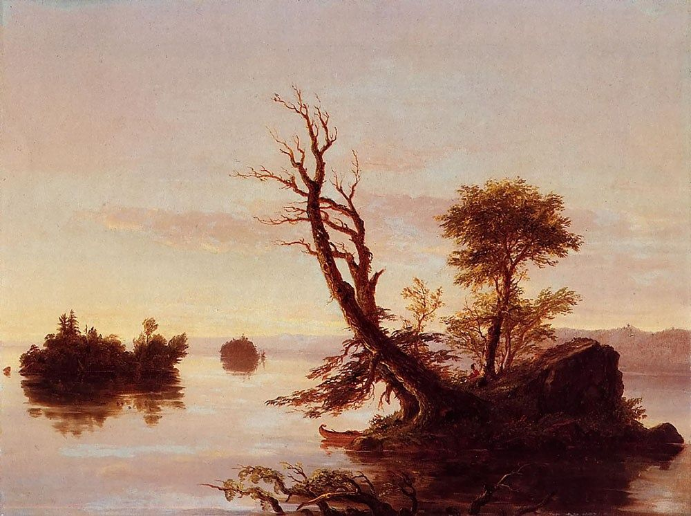 Thomas Cole American Lake Scene