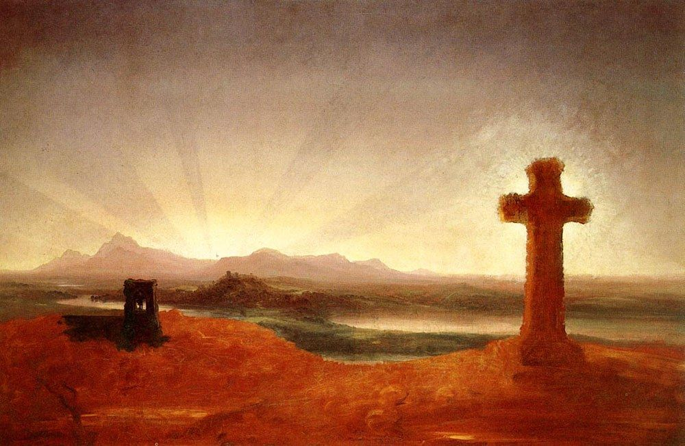 Thomas Cole Cross at Sunset