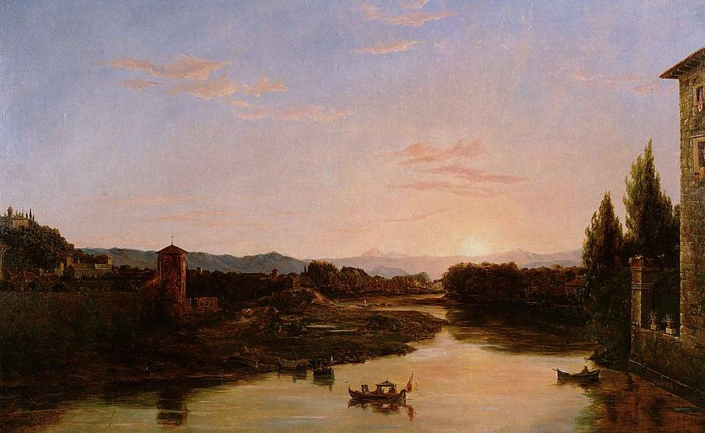 Thomas Cole Sunset of the Arno