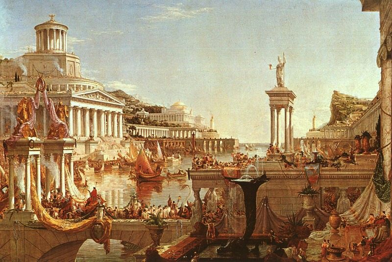Thomas Cole The Course of Empire The Consummation