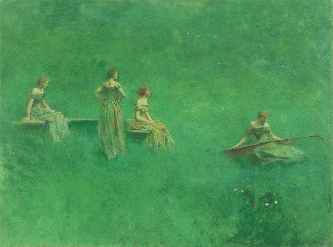 Thomas Dewing The Lute