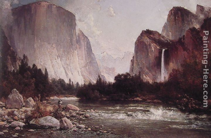 Thomas Hill Fishing on the Merced River