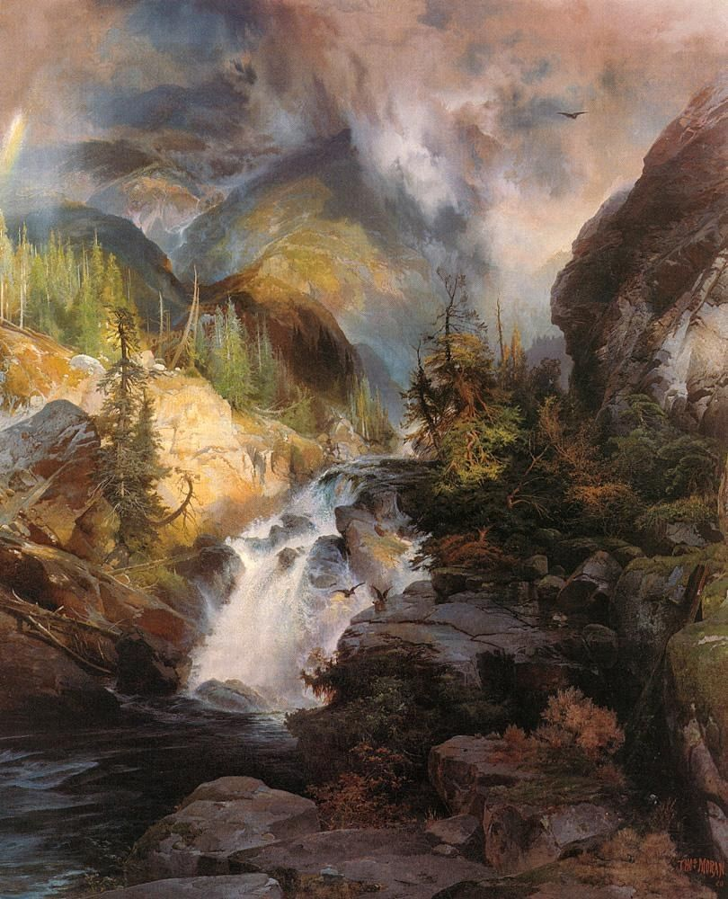 Thomas Moran Children of the Mountain