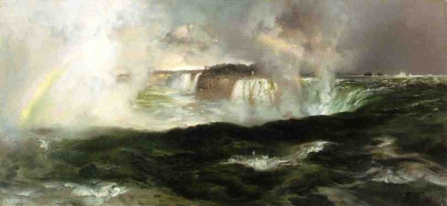 Thomas Moran Looking over Niagara Falls