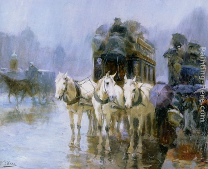 Ulpiano Checa y Sanz A Rainy Day